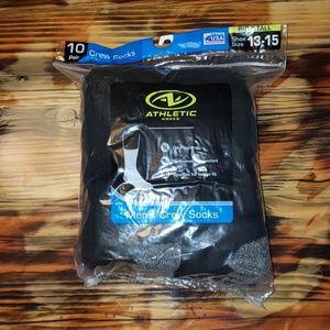 Men's Crew Socks. NWT.  Unopened! Size 13-15.